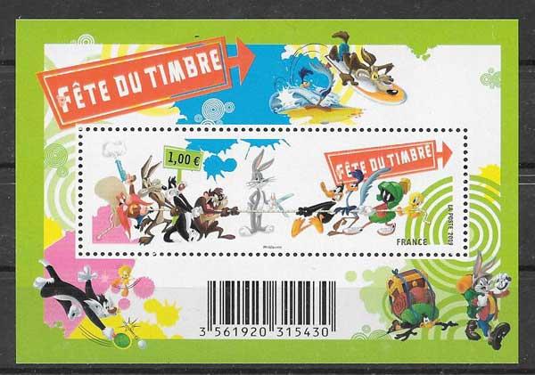 Colección sellos día del sello Francia 2009