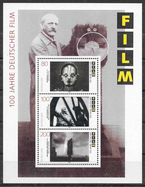 sellos cine y cómic Alemania 1995