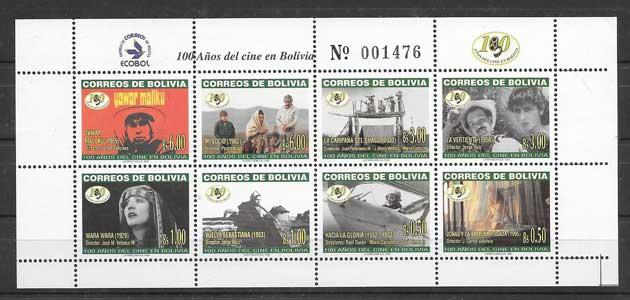 Colección sellos Cine boliviano 1999