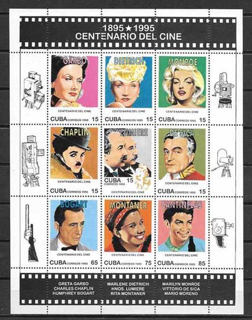 Colección sellos Cine Cuba-1995-01