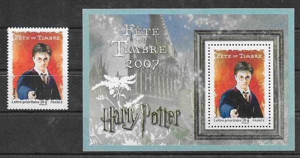 Sellos Filatelia Filme de Harry Potter