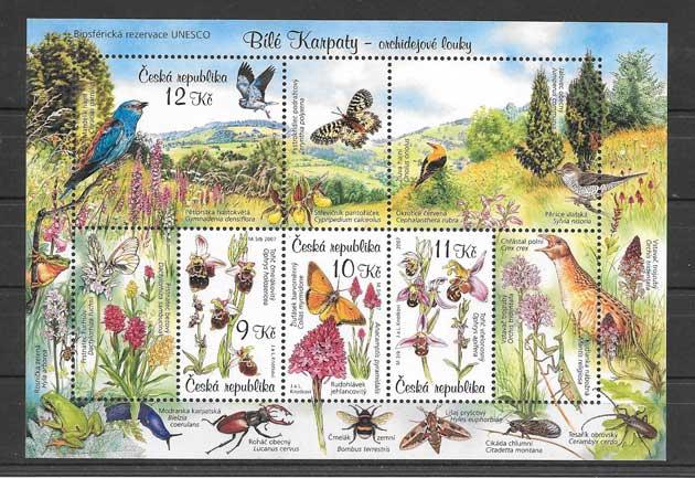 Estampilla tema fauna y flora