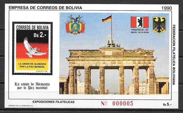 Sellos filatelia Arquitectura Bolivia 1990