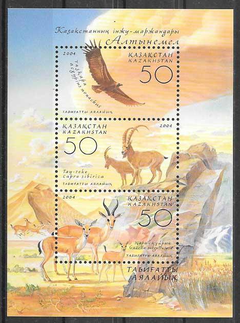 Filatelia fauna 2004 Kazastán