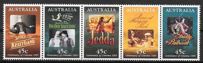 colección sellos cine Australia 1995