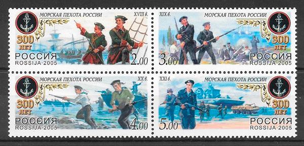 colección sellos temas varios Rusia 2005