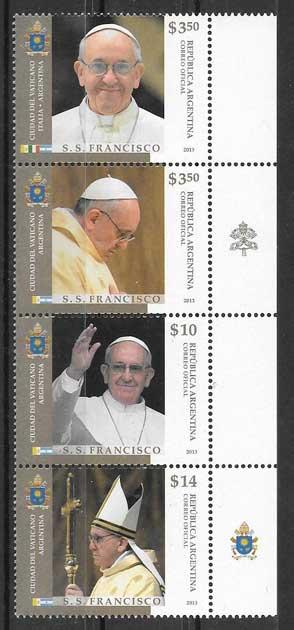 Estampillas personalidad Papa