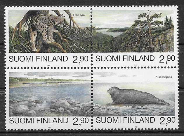 Filatelia fauna Finlandia 1996