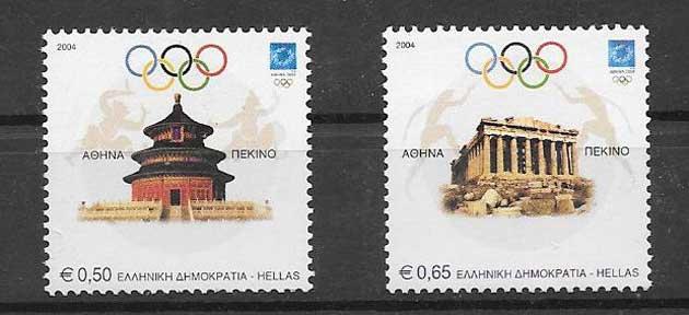 Sellos Filatelia Juegos Olímpicos de Atenas - 21004