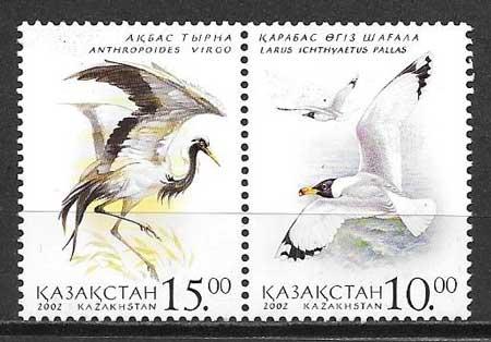 Sellos aves 2002 Kasatán