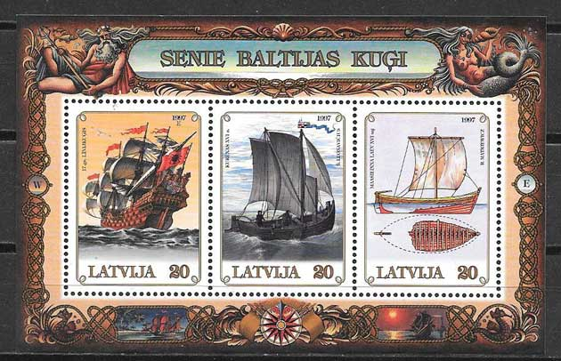 sellos transporte Letonia 1997