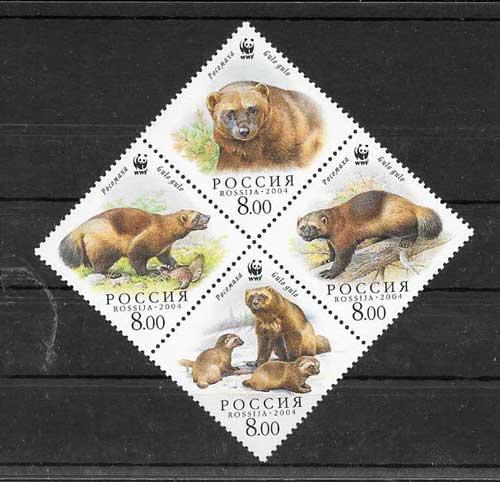 Filatelia sellos Rusia-2004-01