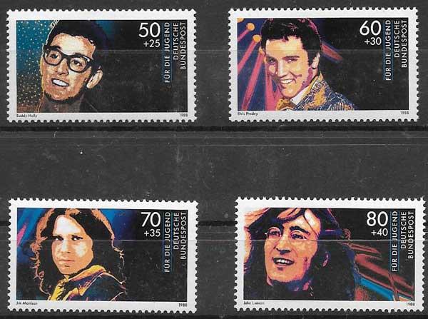 colección sellos música Alemania 1988