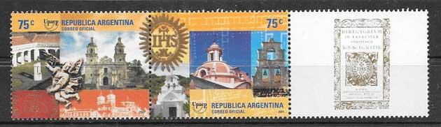sellos argentina América UPAEP 2001