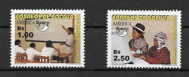 Sellos UPAEP Bolivia 2002