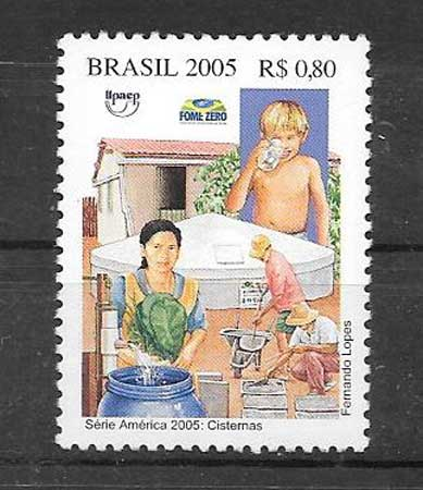 Colección sellos Brasil Upaep 2005