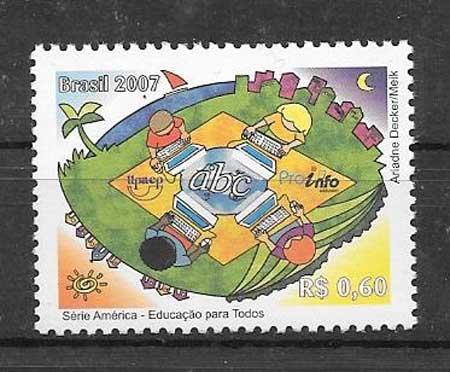 Estampillas UPAEP Brasil 2007