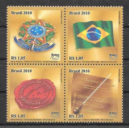 sellos UPAEP Brasil-2010-01