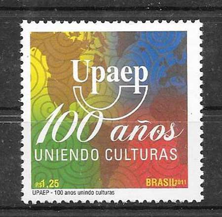 Colección sellos Brasil UPAEP 2011