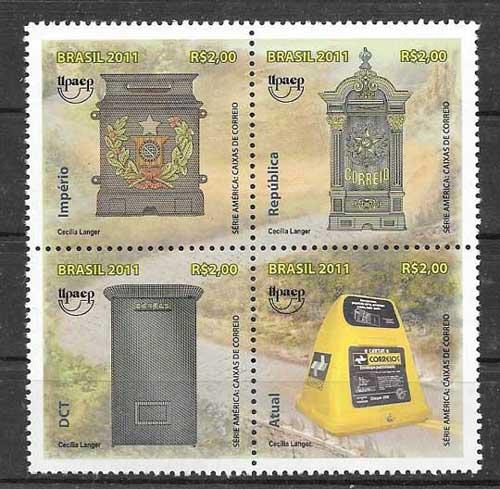 Sellos colección Brasil UPAEP 2011