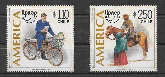 Estampillas UPAEP Chile 1997