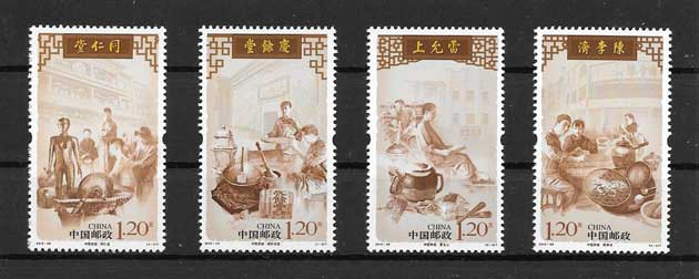 philately stamps, large traditional medicine centers