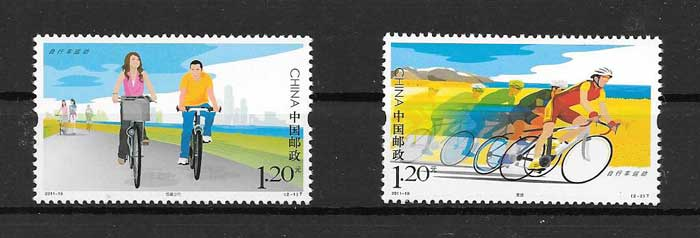 Stamp Collection cycling sport