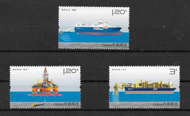 Stamp Collection oilfields China 2012