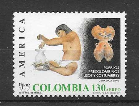 Sellos Colombia 1989 UPAEP