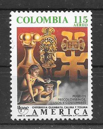 Filatelia Colombia 1989 UPAEP