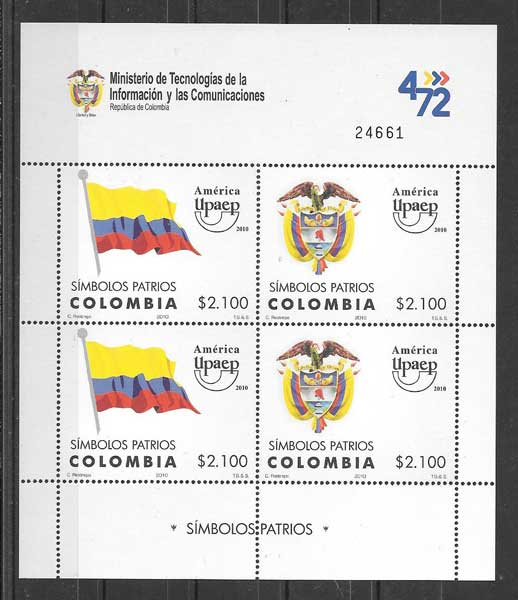 Sellos Colombia 2010