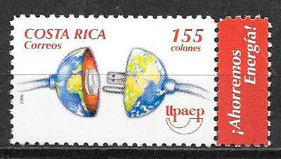 colección sellos uparep Costa Rica 2006