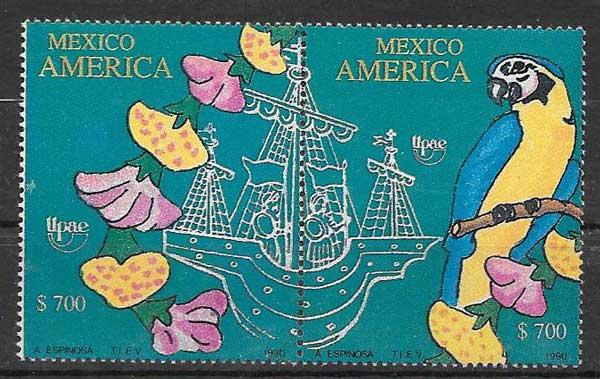 sello América UPAEP México 1991