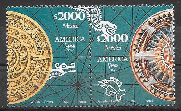 sellos colección América UPAEP México 1992