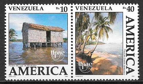 sellos Upaep Venezuela 1990