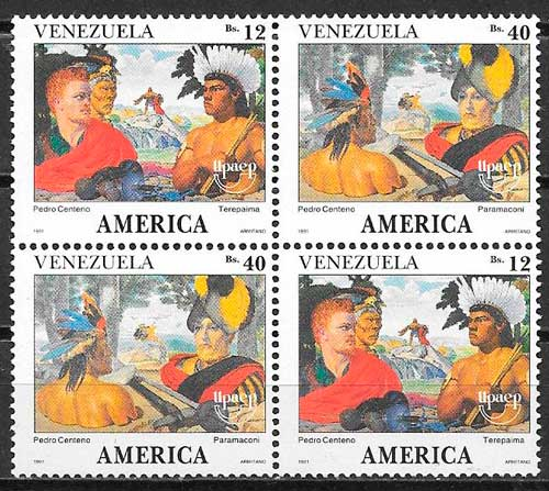 sellos Upaep Venezuela 1991