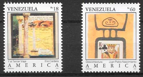 sellos filatelioa Upaep Venezuela 1992