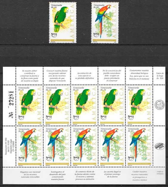 colección sellos Upaep Venezuela 1993