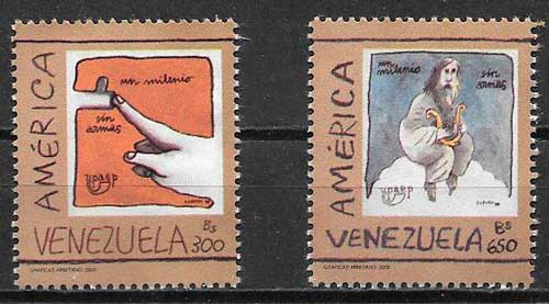 colección sellos Upaep Venezuela 2000