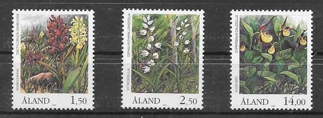 Sellos Flora de Aland 1989