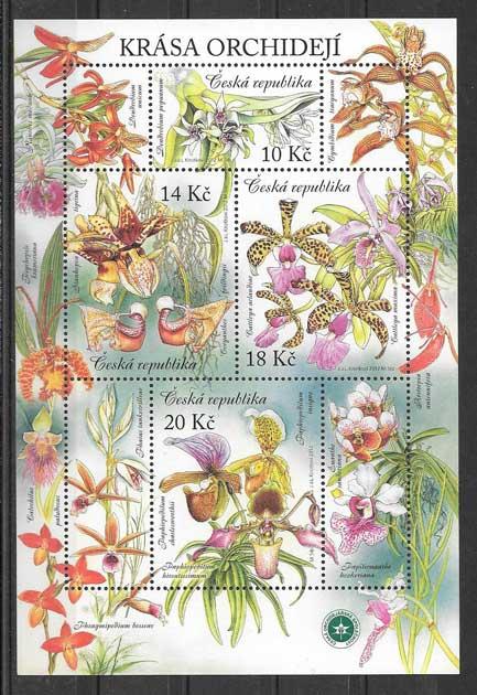 Sellos Filatelia orquídias del país 2012