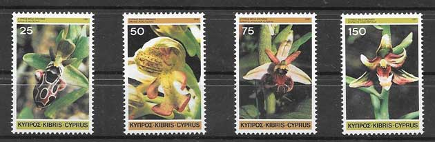Sellos Filatelia Flora - orquídeas Chipre 1981