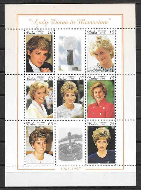 Filatelia sellos Princesa Diana de Inglaterra