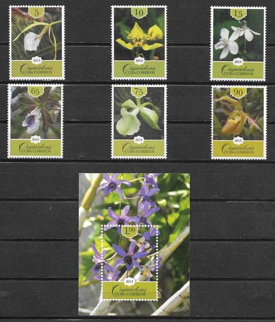 Colección Sellos flora cubana 2013