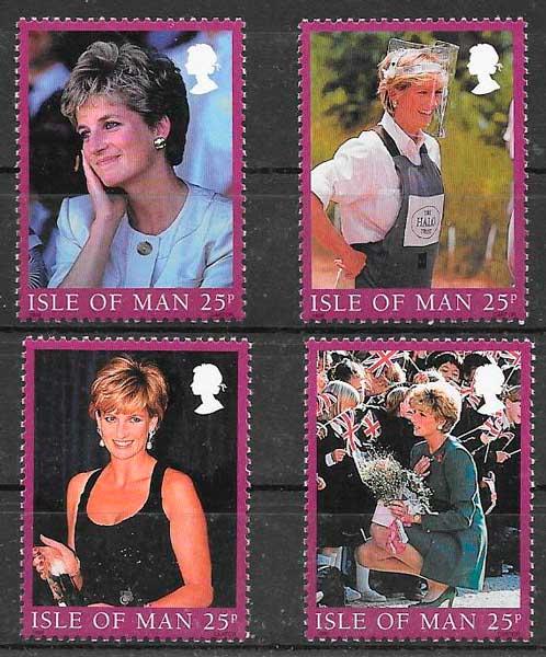 sellos personalidad Isla de Man 1998