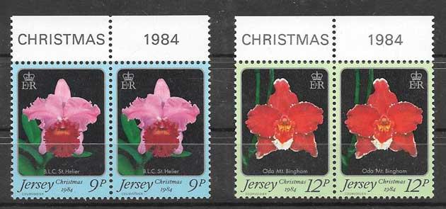 Sellos orquídeas de Jersey 1984