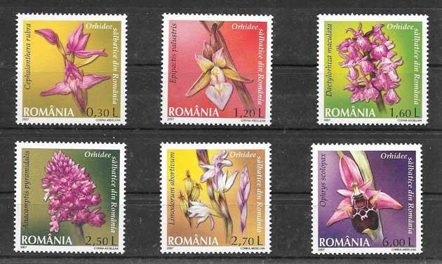 Filatelia Sellos orquideas salvajes de Rumanía