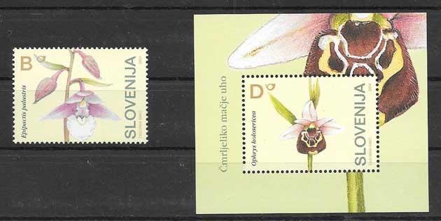 Sellos Filatelia flores orquídeas 2004