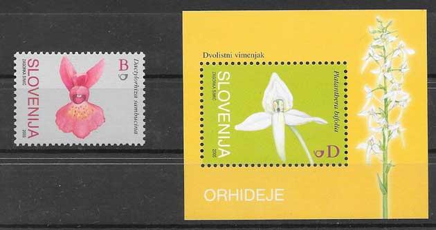 Colección Sellos flora orquídeas 2005