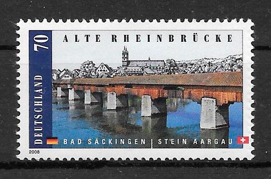 filatelia arquitectura Alemania 2008